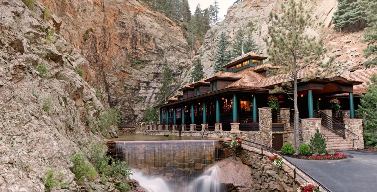 The restaurant at the base of Seven Falls in Manitou Springs